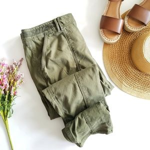 WHBM | The Straight Crop Army Green 16 Long